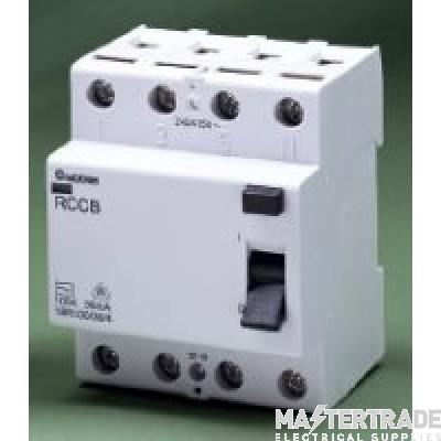 Crabtree Loadstar 100A 100mA RCCB DP Class AC 18R100/100/2