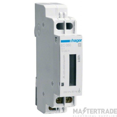 Hager EC050 Kilowatt Hour Meter 32A