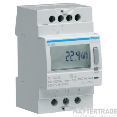 Hager EC152 Kilowatt Hour Meter 1Ph 63A