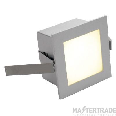 Intalite 111262 FRAME BASIC LED recessed light , square, silver-grey, warm white LED