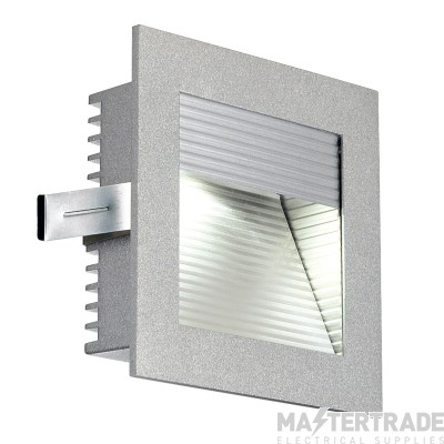 Intalite 111290 FRAME CURVE LED recessed light , square, silver-grey, white LED