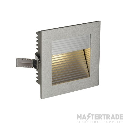 Intalite 111292 FRAME CURVE LED recessed light , square, silver-grey, warm white LED