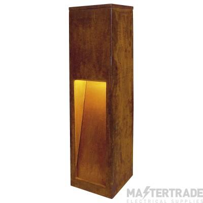 Intalite 233447 RUSTY 50 LED SLOT floor stand, rusted iron, 8.6W COB LED, 3000K, IP55