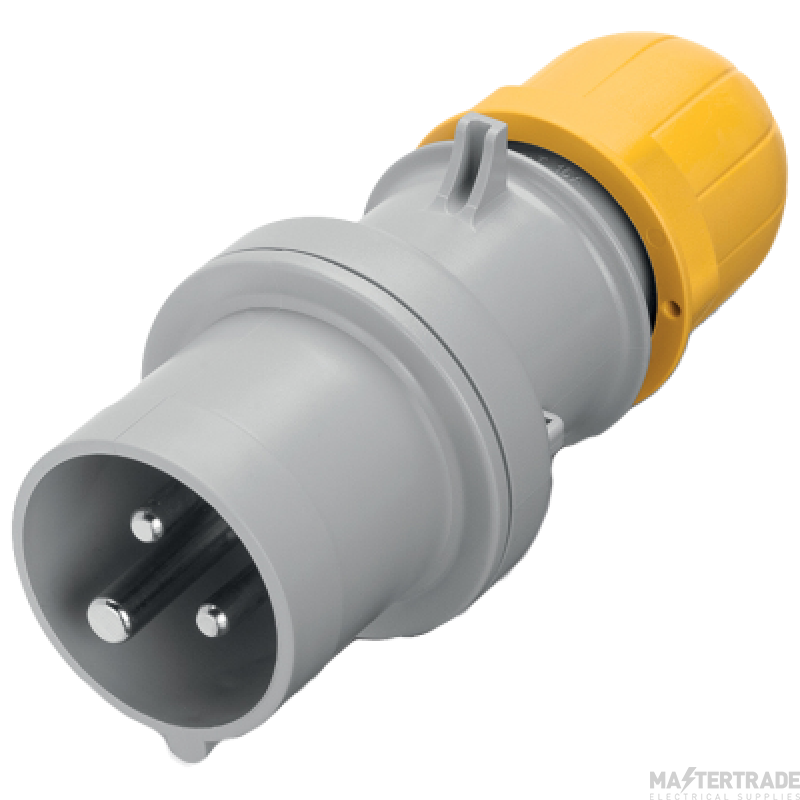 Scame 213.3230 IP44 Industrial Plug 2P+E 32A Yellow