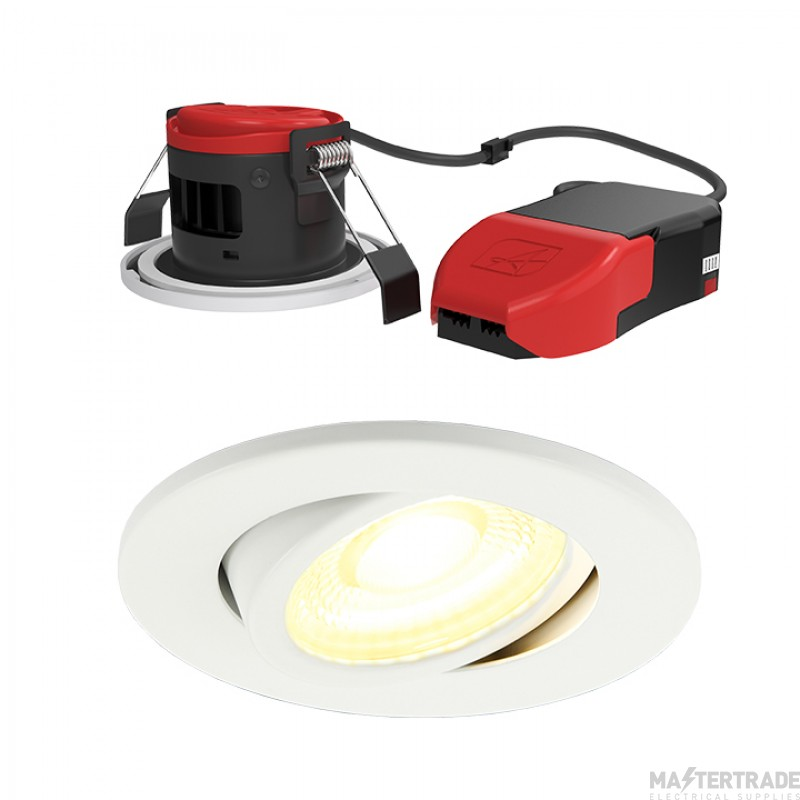 Ansell Lighting APRILEDP/G/WH Prism Pro Gimbal Fire Rated Downlight CCT