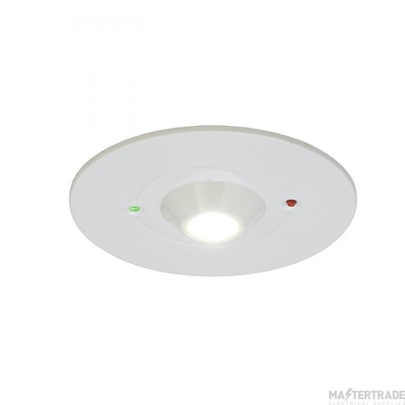 Ansell ARALED/OA/3NM/ST Raven LED Emergency Recessed Downlight 3hrNM 3W
