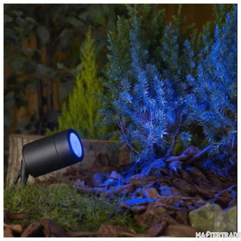 BELL 10343 Luna GU10 LED Garden Spike - Black, IP65