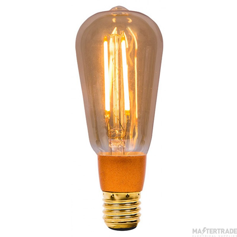 BELL 01469 4W LED Vintage Squirrel Cage Dimmable - ES, Amber, 2000K