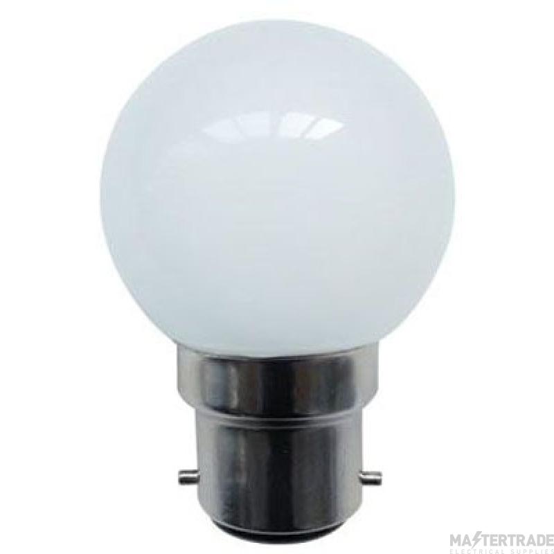 BELL 60004 1W LED White Round - BC, 110V/240V