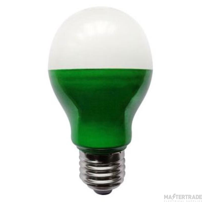BELL 60007 5W LED Green GLS - ES, 110V/240V
