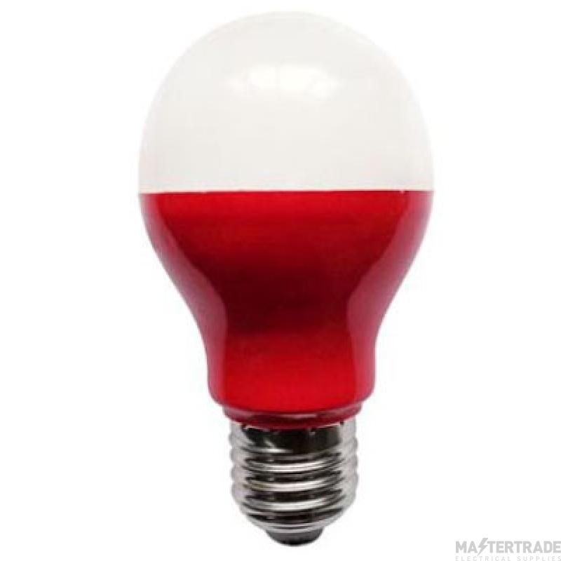 BELL 60008 5W LED Red GLS - ES, 110V/240V