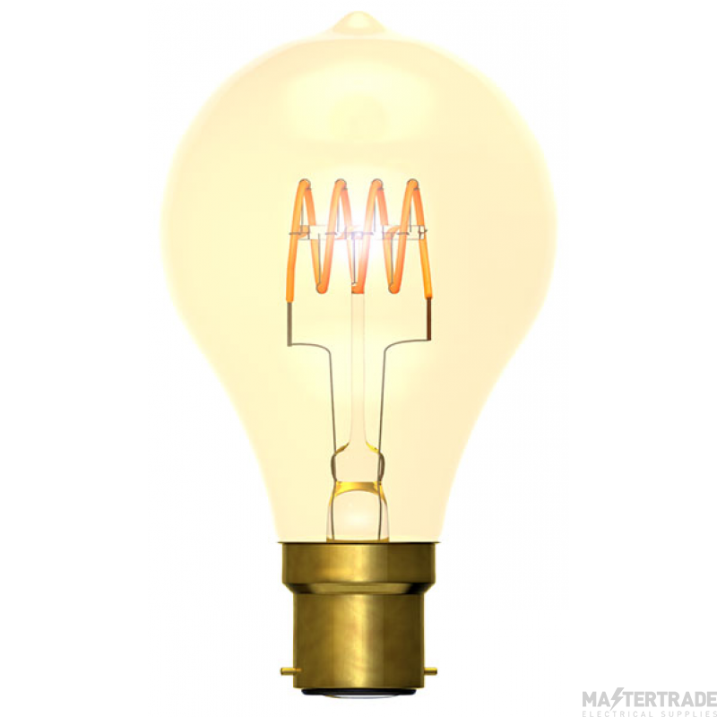 BELL 60016 4W LED Vintage Soft Coil GLS Dimmable - BC, Amber, 2000K
