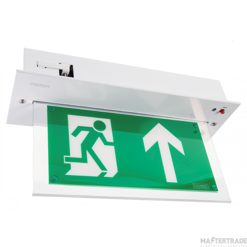 Channel Safety E/CHVL/M3/L/WHST Vale LED Emergency Recessed Exit Blade 3hrM Self Test