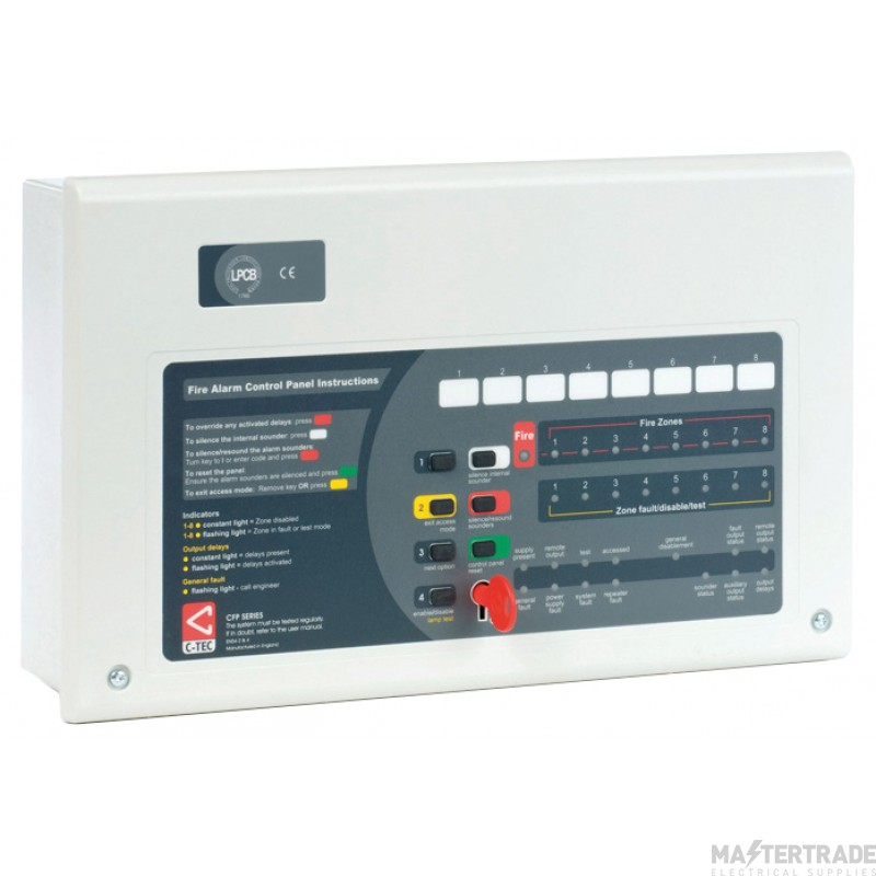 Channel F/CHAS/8 8 Zone Fire Panel