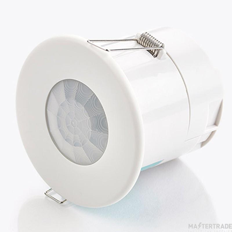 CP Electronics Compact Flush Mounted Ceiling PIR Presence Digital Dimming Detector VITM6-EBDSPIR-DD