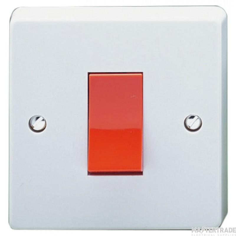 Crabtree Capital White 45A Switch 1 Gang DP 4016