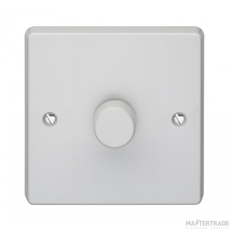 Crabtree Capital White 400W Dimmer Switch 1 Gang Rotary Push On/Off 4190/PU