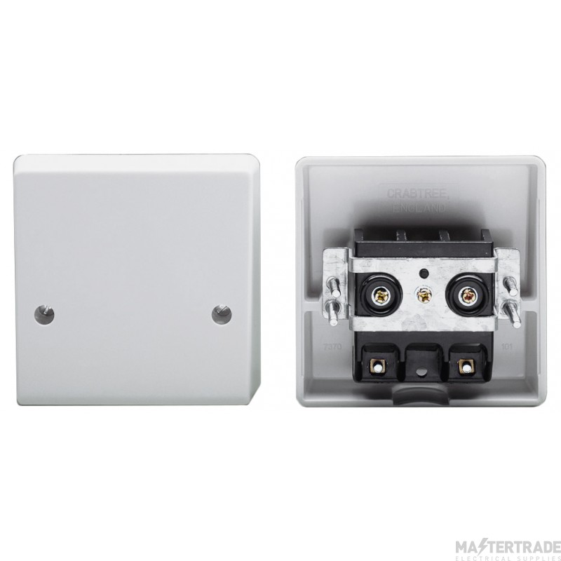 Crabtree Capital White 45A Connection Unit Cooker Outlet 4506