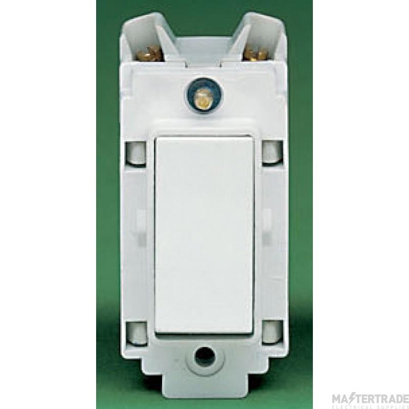 Crabtree Rockergrid White 10A Grid Switch 2 Way & Off 4553
