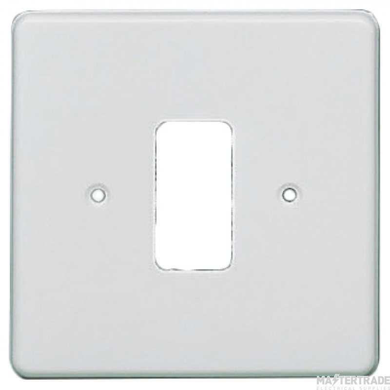Crabtree Rockergrid White Frontplate 1 Gang Rockergrid Flush 5571