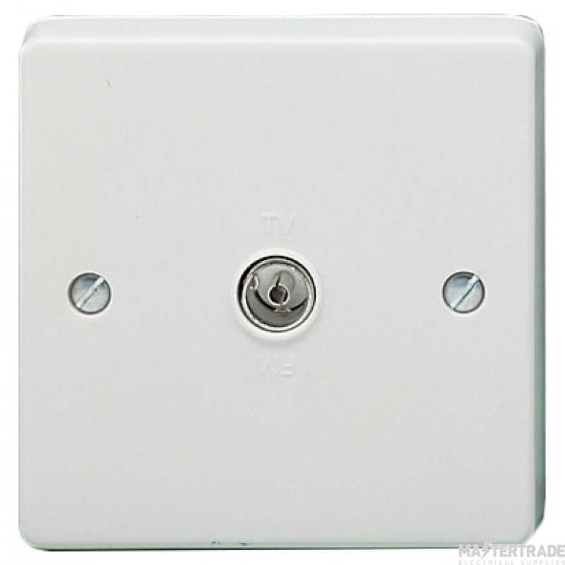 Crabtree Capital White Socket Coaxial 1 Way Direct Connection 7265