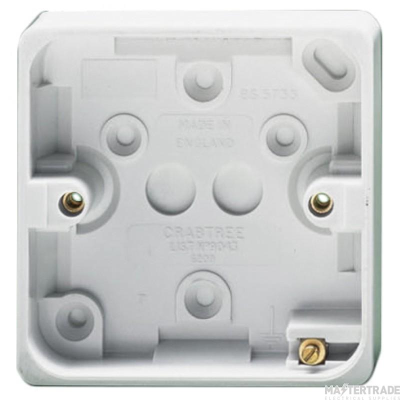 Crabtree Capital White 87x87x20mm Box 1 Gang Surface 9043