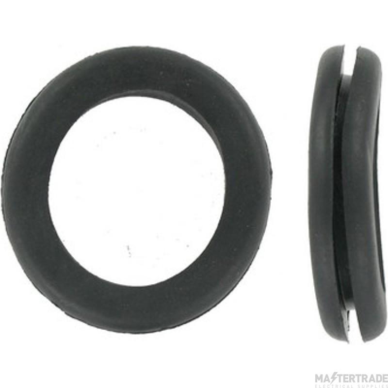 Deligo CG20 Open Grommet 20mm PVC Black