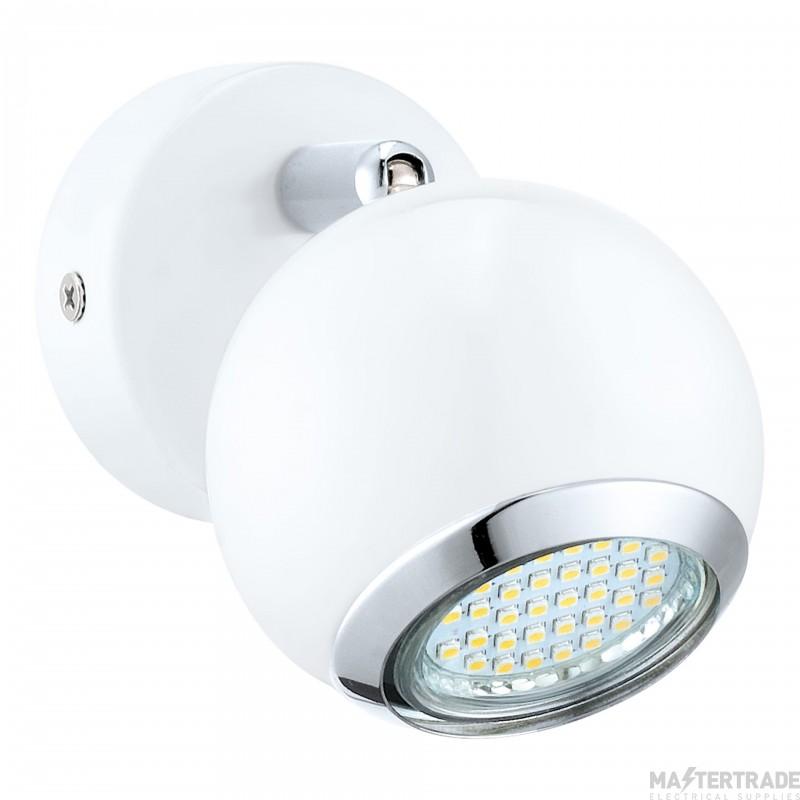 Eglo 31001 Bimeda 1 Light Wall Spotlight In White And Chrome