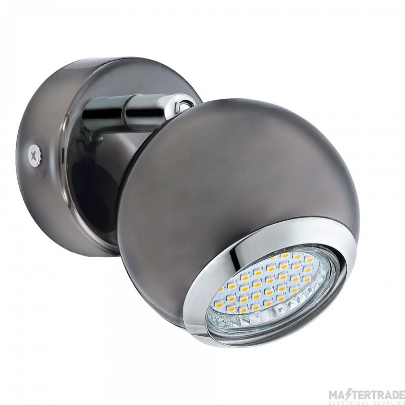 Eglo 31005 Bimeda 1 Light Wall Spotlight In Nickel-Nero And Chrome
