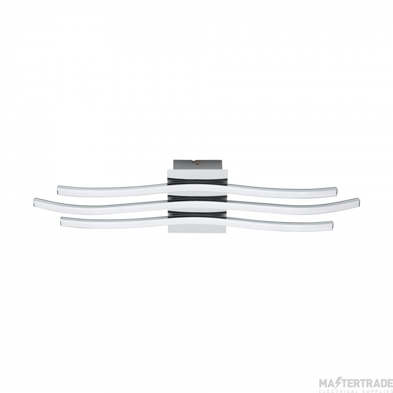 Eglo 31995 Roncade LED Flush Wall/Ceiling Light In Chrome - L: 650mm