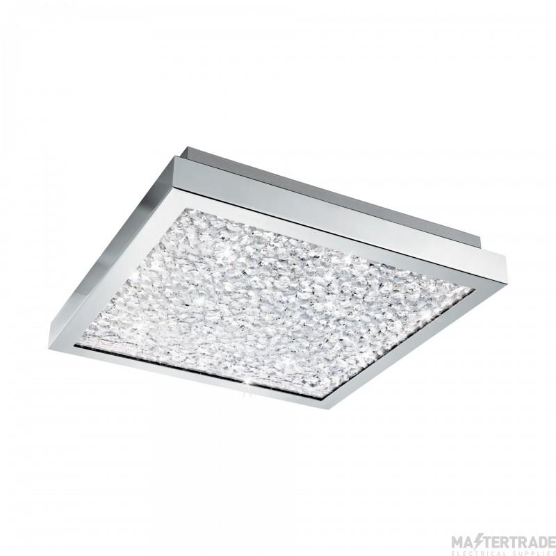 Eglo 32025 Cardito LED Flush Ceiling Light In Chrome - L: 320mm