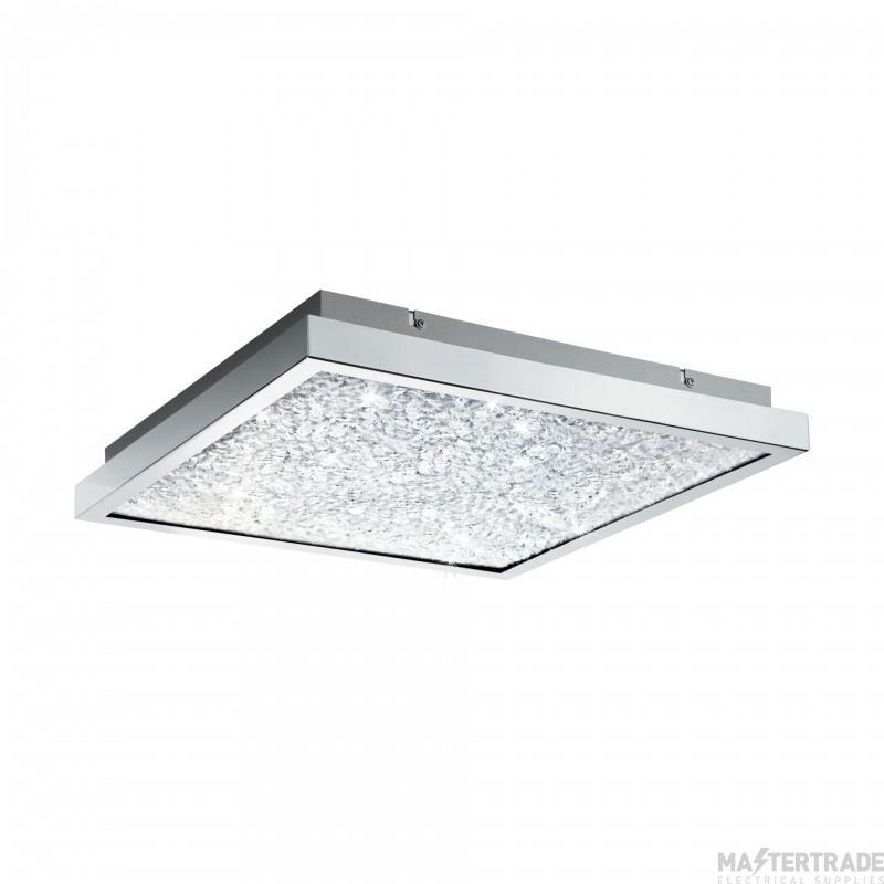 Eglo 32026 Cardito LED Flush Ceiling Light In Chrome - L: 440mm