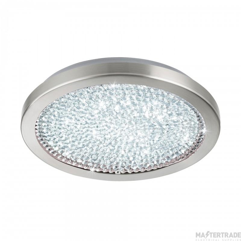 Eglo 32047 Arezzo 2 LED Flush Ceiling Light In Satin Nickel- Dia: 345mm