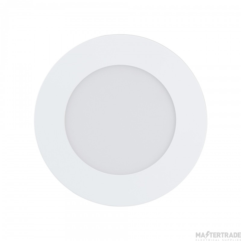 Eglo 32737 Fueva-C LED Recessed Luminaire In White And Plastic - Dia: 120mm