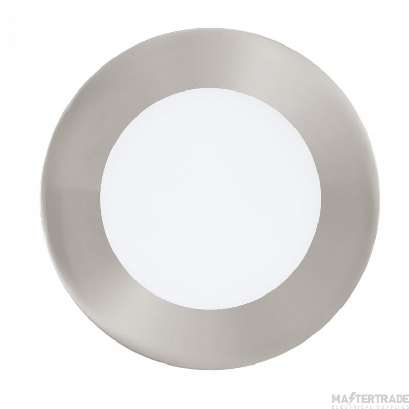 Eglo 32753 Fueva-C LED Recessed Luminaire In Satin Nickel And Plastic - Dia: 120mm