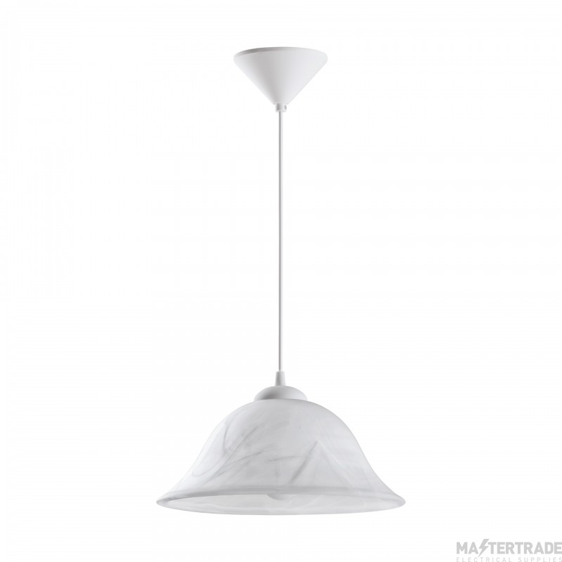 Eglo 3362 Alessandra 1 Light Ceiling Pendant With Alabaster Shade