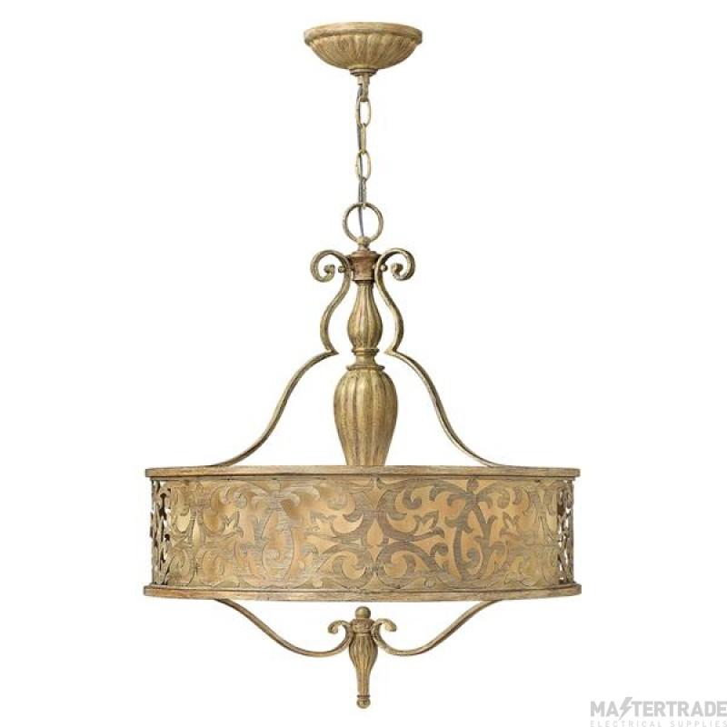 HK/CARABEL/P/B Carabel 3 Light Champagne Ceiling Pendant Chandelier