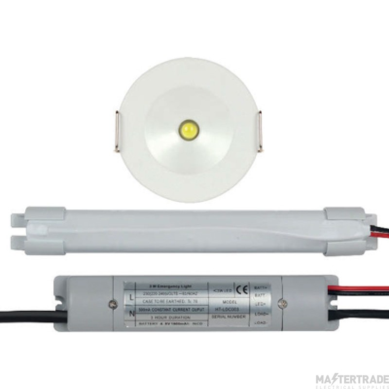 ESP EM3WNMDLK Duceri LED Emergency Recessed Downlight 3hrNM 3W