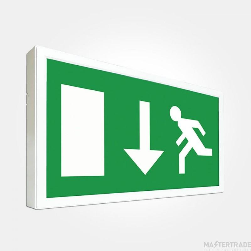 Eterna EBLSLIMM Slimline LED Emergency Exit Box 3hrM 5.2W