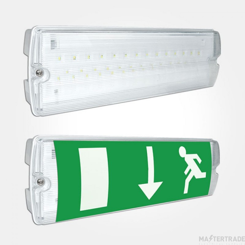 Eterna Lighting EMLED3NM LED Emergency Exit Surface Bulkhead 3hrNM IP65