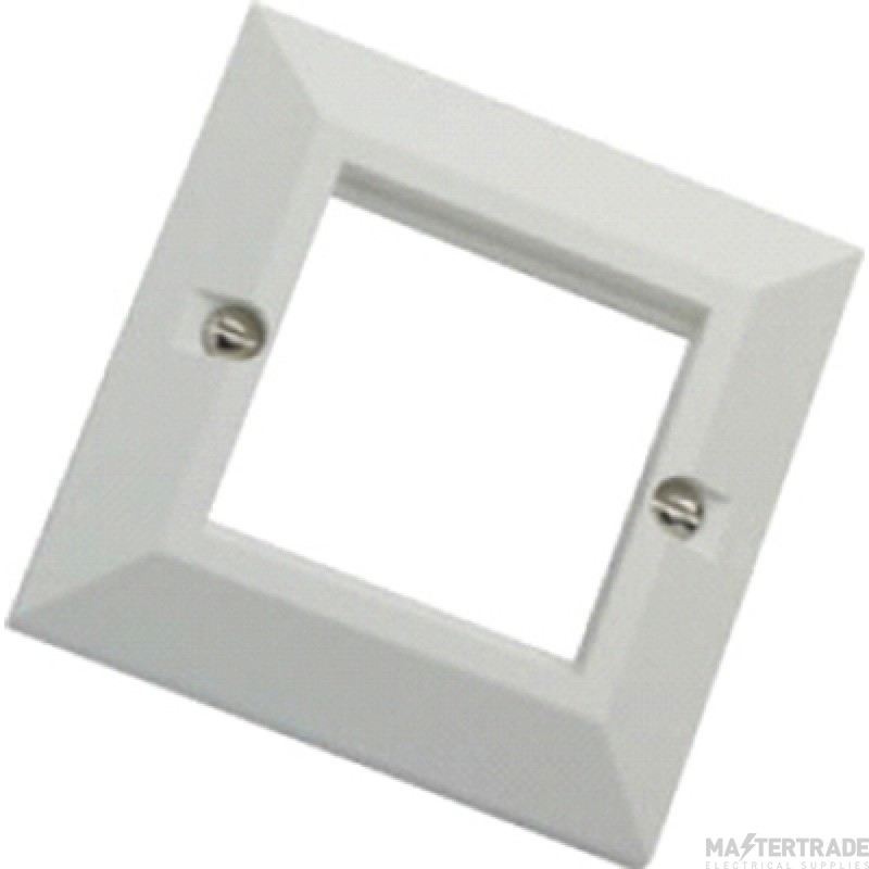 100-712 Excel White Single Gang Bevelled Plate Without Blanks