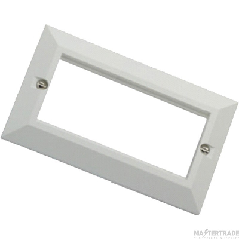 100-716 Excel White Double Gang Bevelled Plate Without Blanks