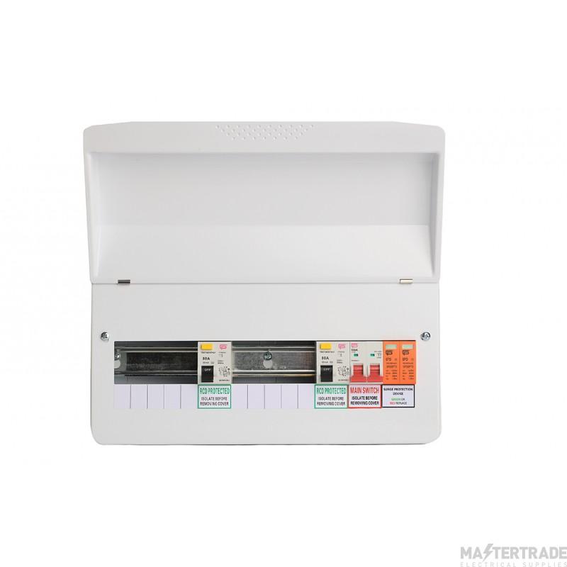 FuseBox Dual RCD Flex 16 Usable Ways Consumer Unit SPD T2 F1016DX100 (15 Usable Ways)