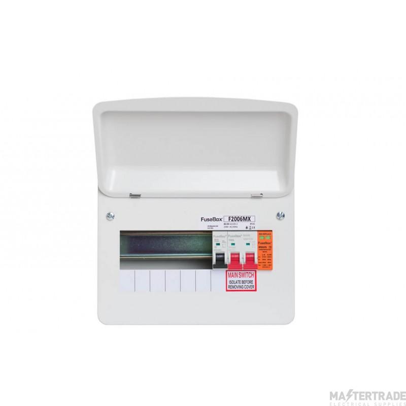 FuseBox F2006MX 100A Main Switch 6 Way T2 Spd