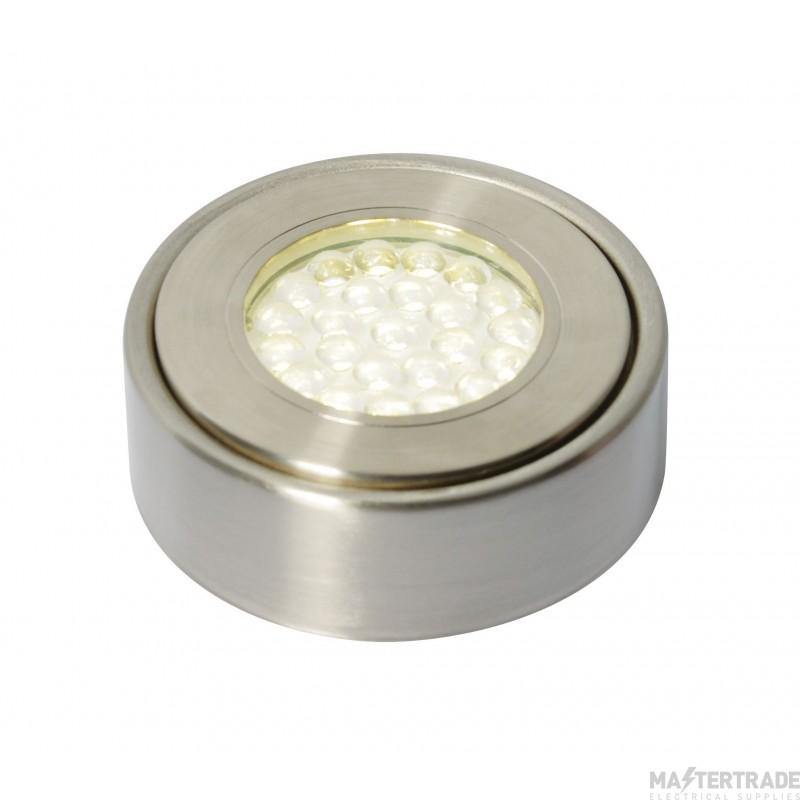 Forum Lighting CUL-25218 Satin Nickel Culina Laghetto LED Under Cabinet Light, 1.5W, IP44, DL