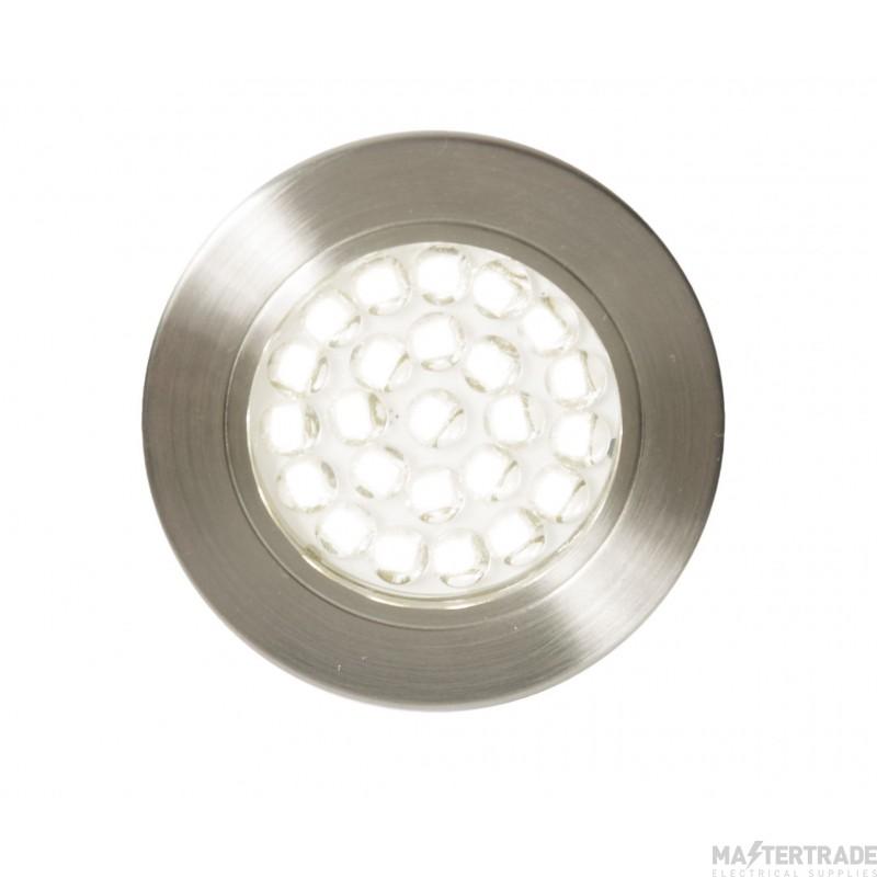 Forum Lighting CUL-25317 Satin Nickel Culina Pozza LED Under Cabinet Light, 1.5W, IP44, 3000K