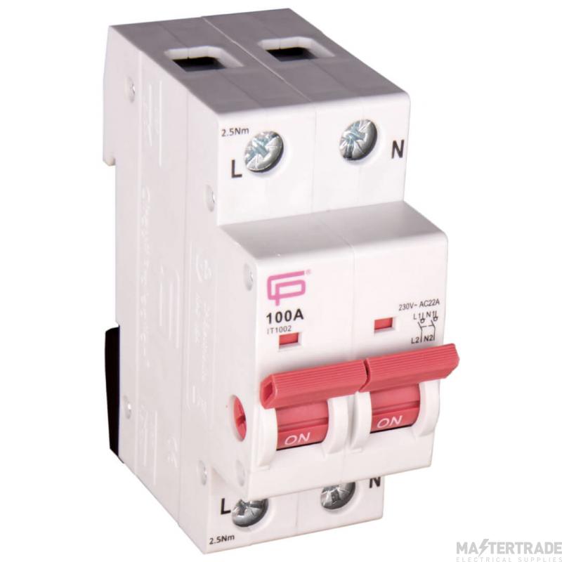 FuseBox IT1002 Main Switch DP 100A