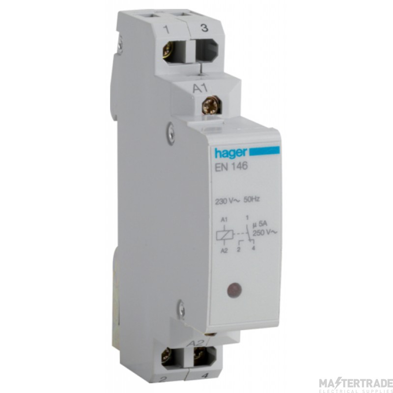 Hager EN146 Interface Relay 1 Ch 240V