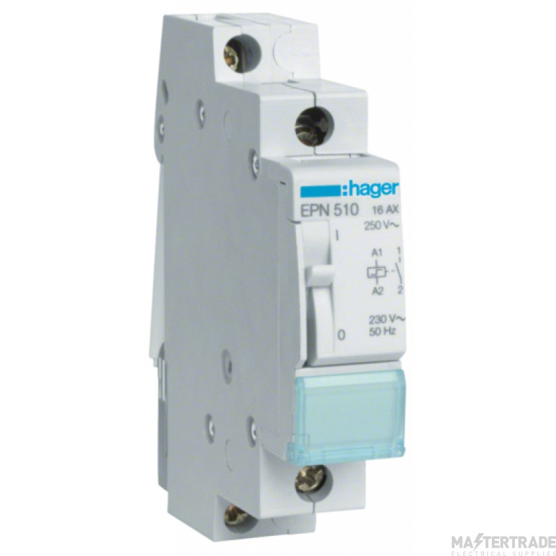 Hager EPN510 Latching Relay 1NO 230V