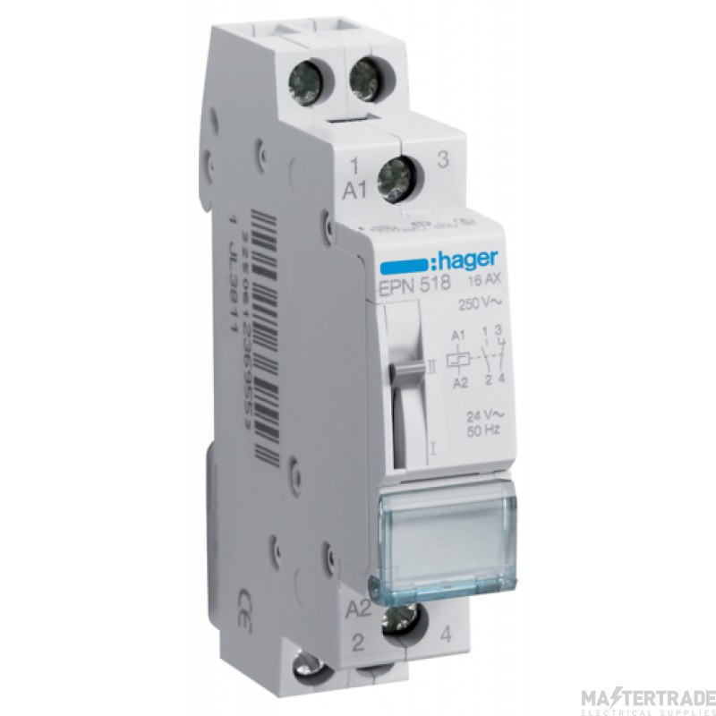 Hager EPN518 Latching Relay 1NC+1NO 24V